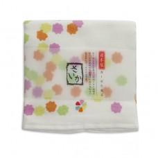 日本 雙層(紗布+毛巾)厚質手帕-花糖(紅色)
