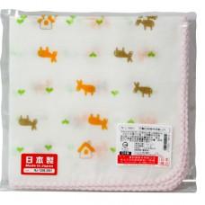 日本 印花紗布手帕-2枚