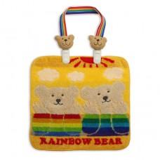 彩虹小熊小毛巾+圍兜夾-黃色