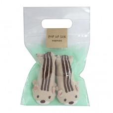 日本 新生兒造型鞋襪-松鼠
