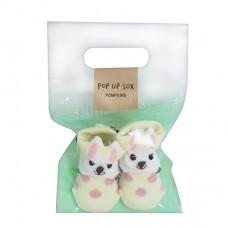 日本 新生兒造型鞋襪-小兔