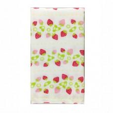 日本 雙層(紗布+毛巾)澡巾-草莓