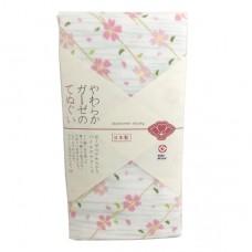 日本 雙層(紗布+毛巾)澡巾-初春