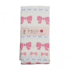 日本 雙層(紗布+毛巾)澡巾-蝴蝶結