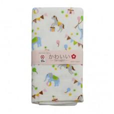 日本 雙層(紗布+毛巾)澡巾-馬戲團