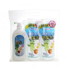 chuchubaby 蔬果奶瓶清潔劑+補充包(2包)