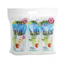 chuchubaby 蔬果奶瓶清潔劑替換包-3包
