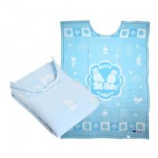 日本 純棉護肩蓋毯-藍色