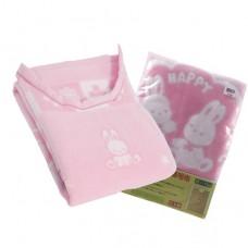 日本 純棉護肩蓋毯-粉色