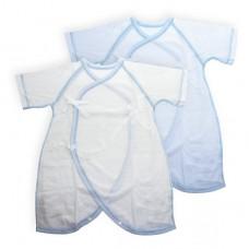 日本 純棉兩用蝴蝶裝2件-藍色