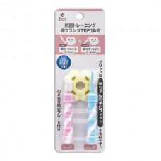 西松屋 抗菌訓練牙刷組合Step1+ 2